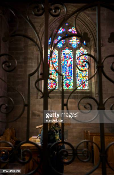 beautiful brechin cathedral, scotland - medieval stock pictures, royalty-free photos & images