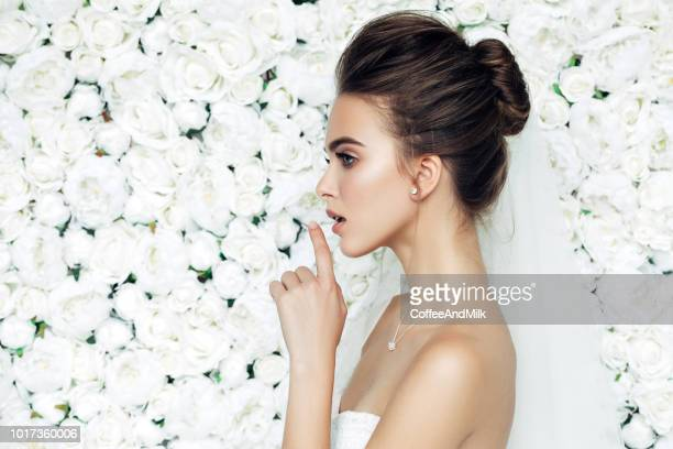beautiful bride - rosaceae stock photos and pictures