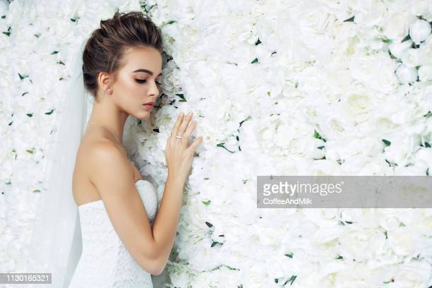beautiful bride - society beauty stock pictures, royalty-free photos & images