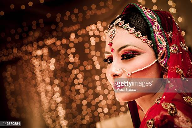 beautiful bride - bangladeshi bride stock photos and pictures