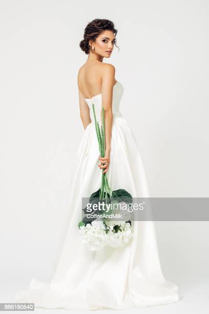 beautiful bride - cut out dress stock pictures, royalty-free photos & images