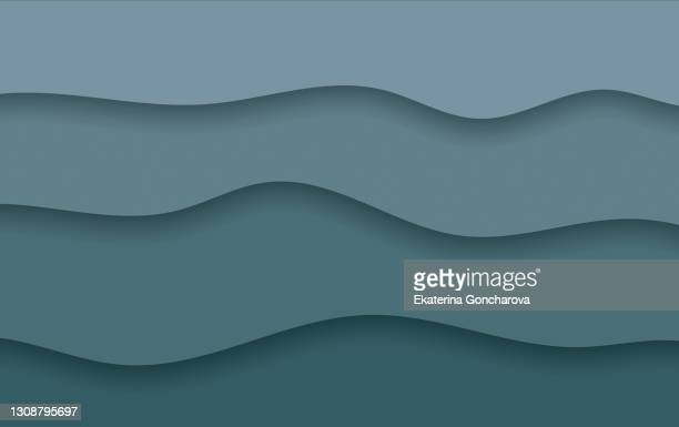 beautiful bright gray abstract monochrome background with waves, imitating layers of paper. - awards ceremony stock pictures, royalty-free photos & images