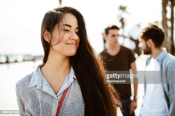 beautiful brunette woman portrait