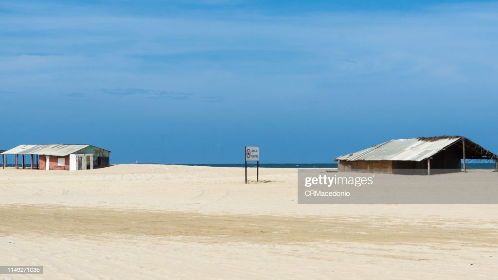 Beautiful buildings on the edge of the beach. : Stock Photo