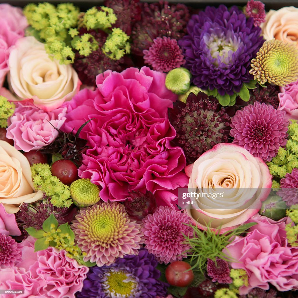 Beautiful Bunch Of Colorful Flowers Closeup Stock Photo Getty Images