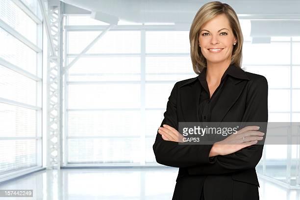 Beautiful Businesswoman In A Modern Office