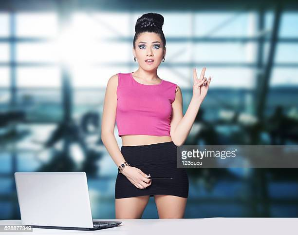 beautiful businesswoman - secretary stock photos and pictures