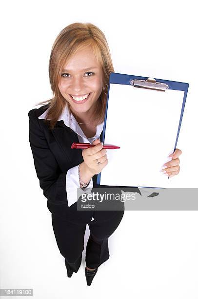 Beautiful Businesswoman with Contract