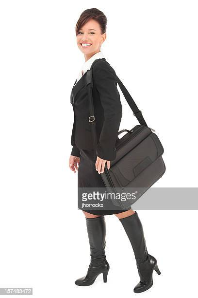 Beautiful Businesswoman with Laptop Case