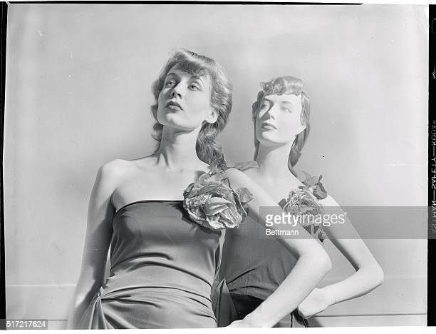 Beautiful -- But Dumb. True or False? Here are living model Andrea Johnson and her made to order counterpart. The mannequin seems to have inherited...