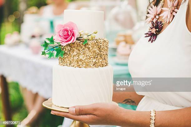 Beautiful cake at a garden party
