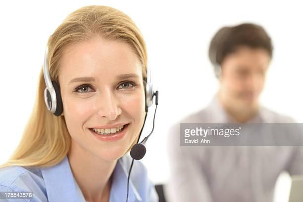 Beautiful call center emplyee