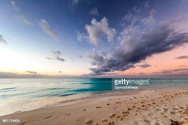 Beautiful Caribbean beach at Sunrise, Cuba