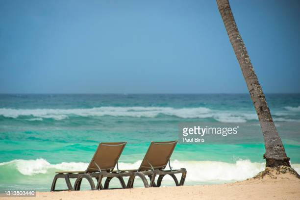 beautiful caribbean beach, riviera maya, tulum, mexico - mexico stock pictures, royalty-free photos & images