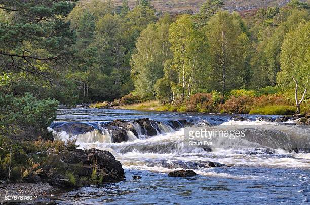Beautiful cascades on the River Affric in Highlands, Scotland.