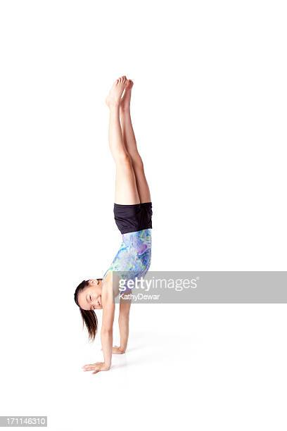 Beautiful Chinese Gymnast in a Hand Stand