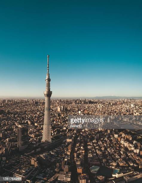 beautiful cityscape of tokyo at dawn, japan - olympic stadium stock pictures, royalty-free photos & images