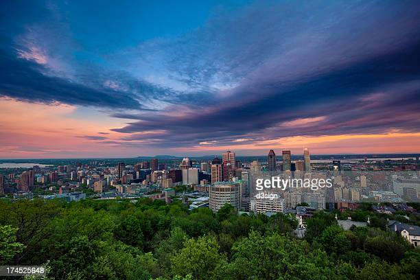 Beautiful cloud over the Montreal city skyline