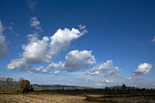 beautiful clouds formed top land