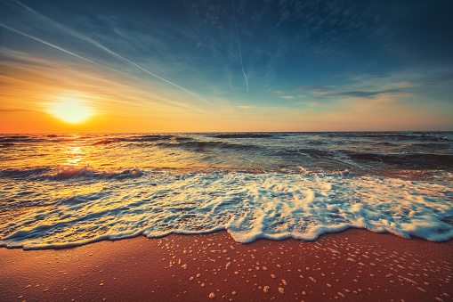 Beautiful cloudscape over the sea, sunrise shot 961009180