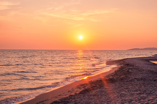 Beautiful cloudscape over the sea, sunset shot 1031488628