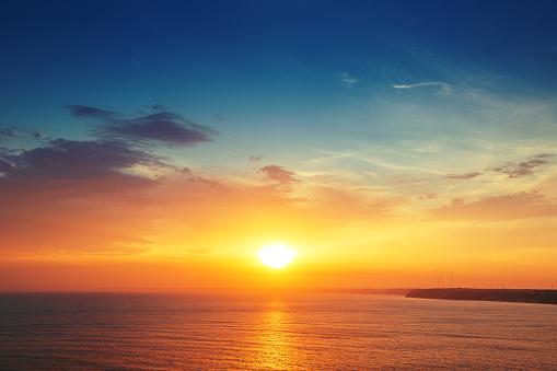 Beautiful cloudscape over the sea, sunset shot 538449165