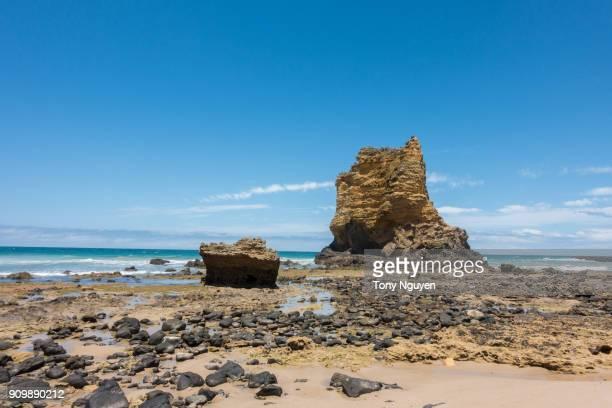 Beautiful Coastal view from Great Ocean Road, Victoria, Australia
