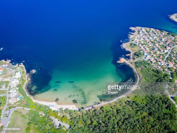 beautiful coastline on black sea in summertime - bulgaria stock pictures, royalty-free photos & images