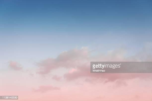 beautiful colorful clouds at sunset - ciel photos et images de collection