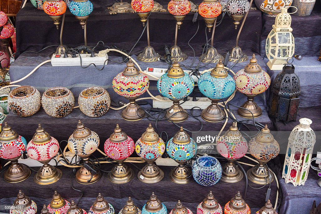 beautiful colorful lamps arabic style of decorating : Stockfoto