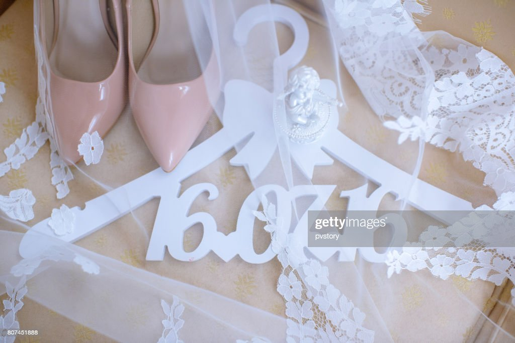 46a6033e88b Beautiful Colorful Wedding Shoes For Bride Indoors Stock Photo ...