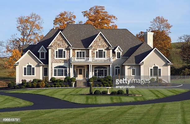 beautiful country estate - mansion stock pictures, royalty-free photos & images