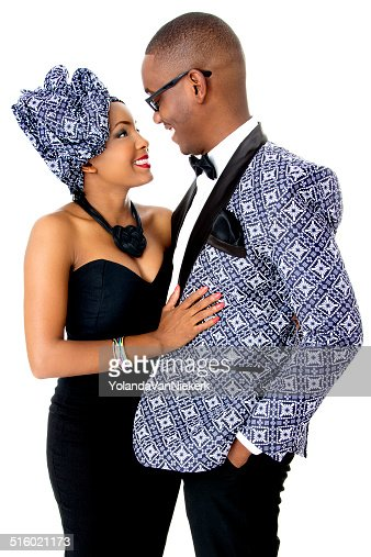Beautiful Couple Dressed In Traditional African Clothes