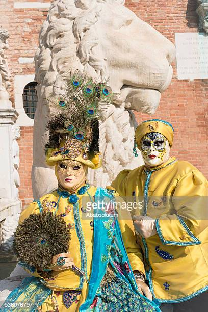Beau Couple de Costumes de l'arsenal de Venise, Italie, Europe