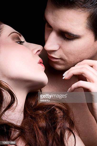 beautiful couple - couple hot kiss stock photos and pictures