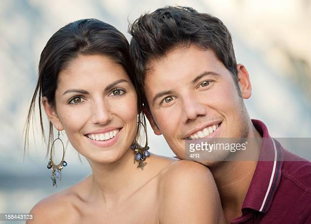 Beautiful Couple Portrait on their Honeymoon, Louvre, Paris (XXXL)