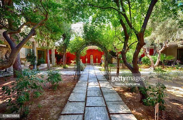 Beautiful courtyard in Athens, Greece