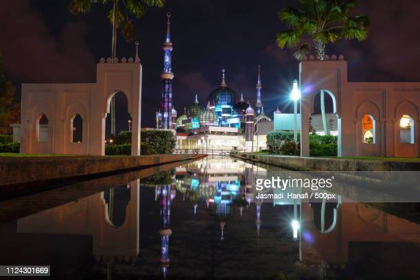 Beautiful Crystal Mosque At Night