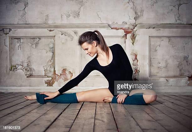 Beautiful dancer stretching