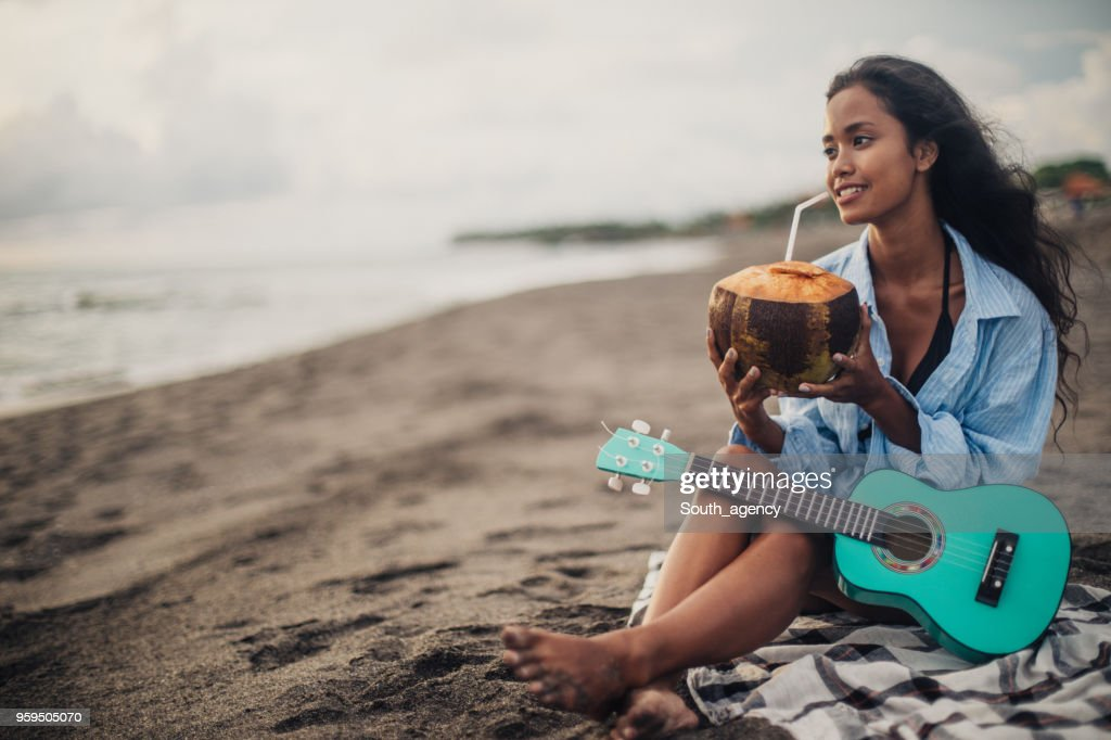 Beautiful day at the beach : Stock Photo