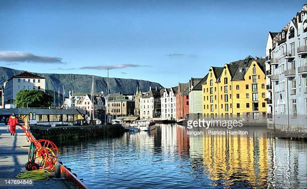Beautiful day in Ålesund harbour