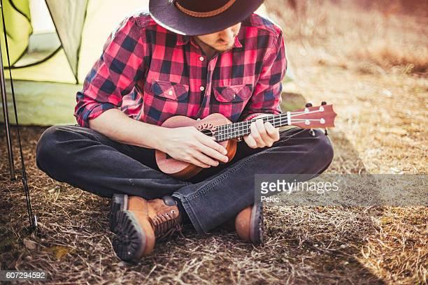 Beautiful day, nature and my ukulele.
