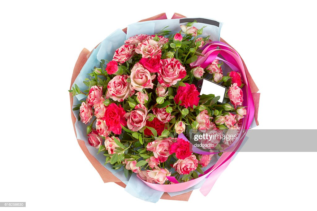 beautiful, delicate bouquet of flowers on isolated background : Foto de stock