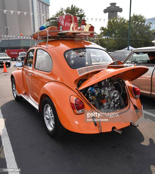 Beautiful detailed engine compartment on this 1970 VW Beatle on display at the Hot August Nights Custom Car Show the largest nostalgic car show in...