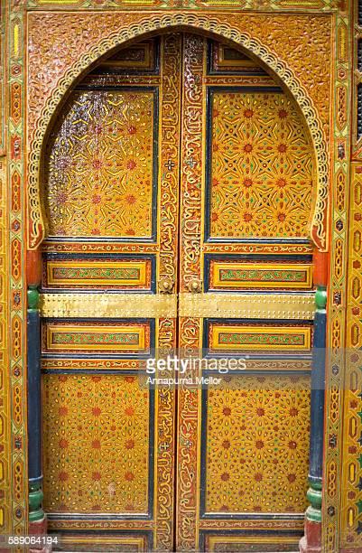 Beautiful doorway in Fez, Morocco