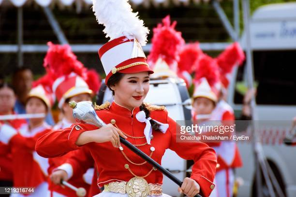 beautiful drum major - chatchai thalaikham stock pictures, royalty-free photos & images