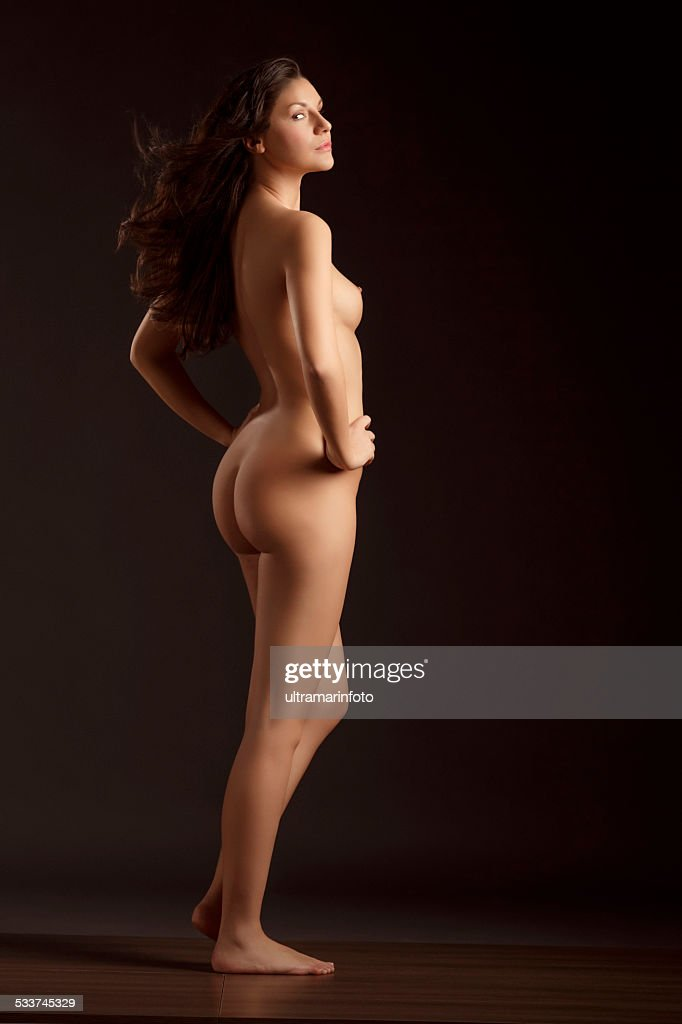 Beautiful Dynamic Women Gorgeous Naked Brunette Natural -9284