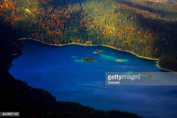 Beautiful Eibsee Lake in Autumn, Garmisch-Partenkirchen, Bavaria, Germany