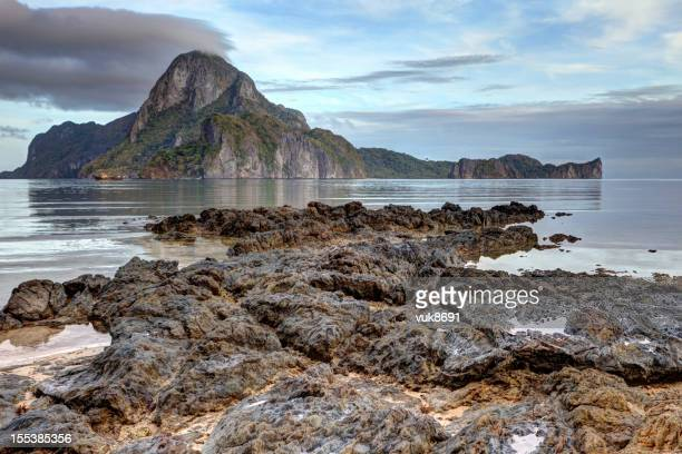 beautiful el nido landscape - volcanic terrain stock pictures, royalty-free photos & images