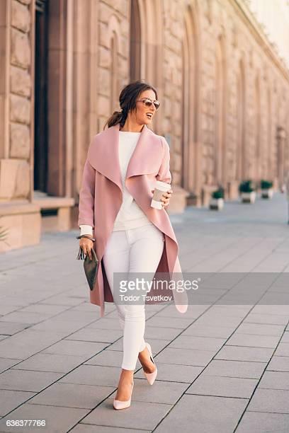 Beautiful elegant woman outdoors